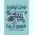 surfing camp vector image