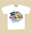t-shirt print design superhero baby girl vector image vector image