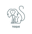 toque line icon linear concept outline vector image vector image