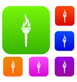 torch set color collection vector image