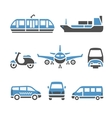 transport icons - a set ninth vector image vector image
