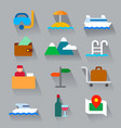 travel flat icons vector image vector image