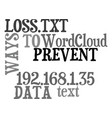 ways to prevent data loss text word cloud concept vector image vector image