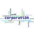 word cloud corporation vector image vector image