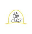 yoga line logo design meditation isolated vector image