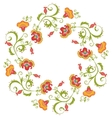 Floral wreath Flower border frame indian theme vector image
