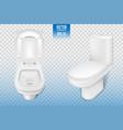 realistic toilet mockup closeup white modern vector image