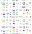 icons pattern vector image
