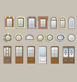 set of classic windows vector image
