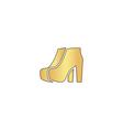 woman boots computer symbol vector image
