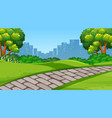 a simple park scene vector image vector image