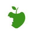 apple icon with bite on white background vector image