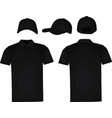baseball cap and polo t shirt vector image vector image