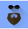 Beard and Sunglasses Icon vector image vector image