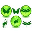 Bio or eco spheres vector image vector image