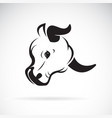 bull head design on white background wild vector image vector image
