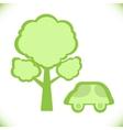 car near a tree icon vector image