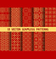 chinese red golden asian oriental patterns vector image vector image