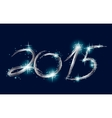Christmas blue background with glow 2015 vector image vector image