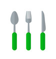 cultery concept represented by fork icon isolated vector image vector image