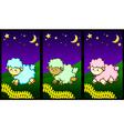 Cute little lambs vector image