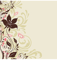 Decorative background with flowers vector image