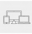 devices line icons vector image vector image