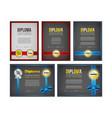 diploma certificate design set vector image vector image