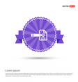 document icon - purple ribbon banner vector image