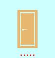 door set it is color icon vector image