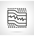 ECG paper black line icon vector image