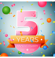 Five years anniversary celebration background vector image vector image