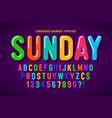 flat bubble comical font design colorful alphabet