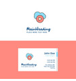 flat cloud play logo and visiting card template vector image vector image