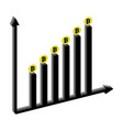 graphic growth of bitcoins vector image vector image