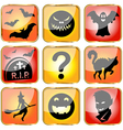Halloween avatars small vector image