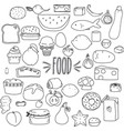 hand drawn cut food outline vector image vector image