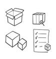 hand drawn simple set abstract box shape vector image vector image