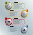Info graphic colored round element work template vector image vector image