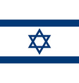 israeli flag vector image vector image