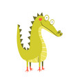 little amusing and funny cheerful crocodile vector image vector image