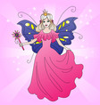 magic fairy princess coloful vector image