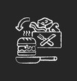 meal kit delivery chalk white icon on black vector image