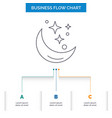 moon night star weather space business flow chart vector image vector image
