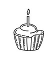 muffin icon doddle hand drawn or black outline vector image vector image