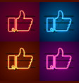 neon sign color set vector image