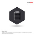 note icon hexa white background icon template vector image