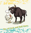 Old cock and bull story vector image vector image