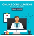 Online doctor Online consultation Ask doctor vector image vector image