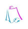 online shop icon logo design vector image